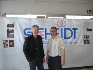 Aktionen - Hausmesse 2008 - Herr Küper mit Herrn Brieskorn von der Firma Scheidt